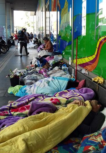 Versorgung von Obdachlosen